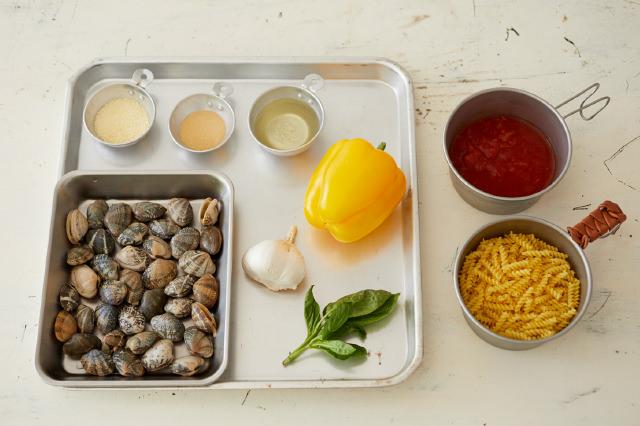 水漬けパスタのトマトパスタの材料