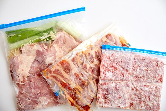 味つけ冷凍肉の集合写真
