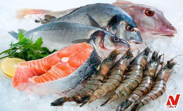 冷凍された魚介類のイメージ