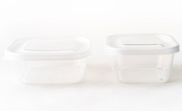 小分けタイプのプラスチック製密閉容器の写真