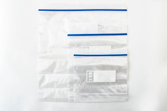 フラット×ジッパータイプの保存袋の写真
