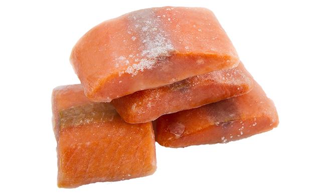 鮭の冷凍写真