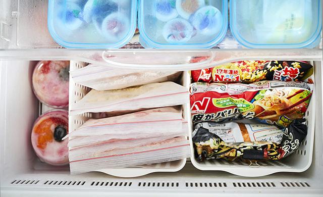 整理収納された冷凍庫の写真