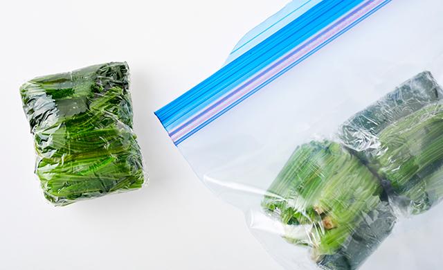 ほうれん草を冷凍保存する方法の写真