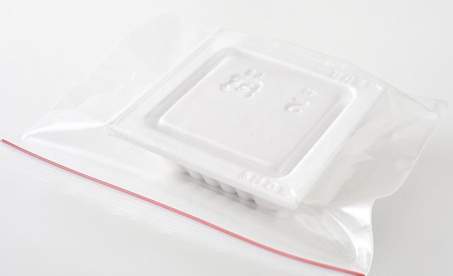納豆が冷凍用保存袋に入った写真