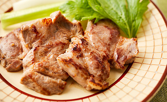 豚肉のオニオンソテーの写真