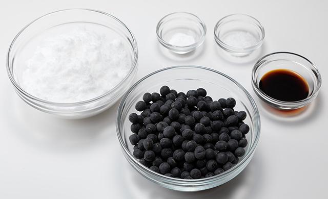黒豆の材料の写真