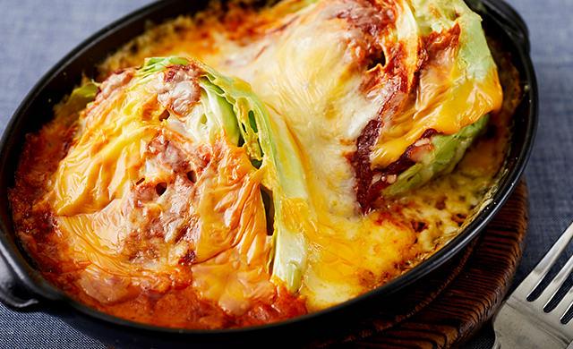 キャベツのチーズ焼きの写真