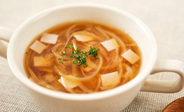 オニオンハムスープの写真
