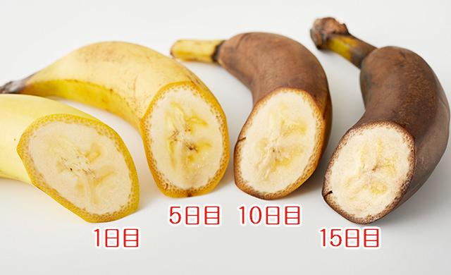保存したバナナの集合写真
