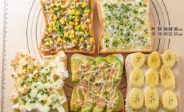 具材をのせて冷凍保存するだけ!「トッピング食パン」アレンジレシピ