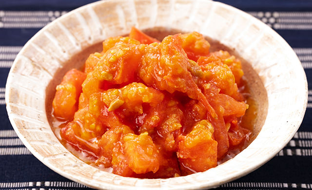 マトの生姜味噌の写真