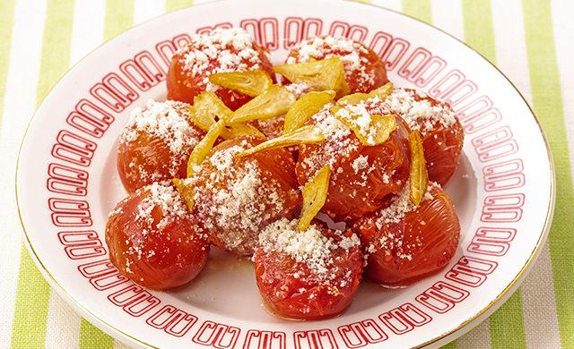 ミニトマトのガーリックチーズの写真