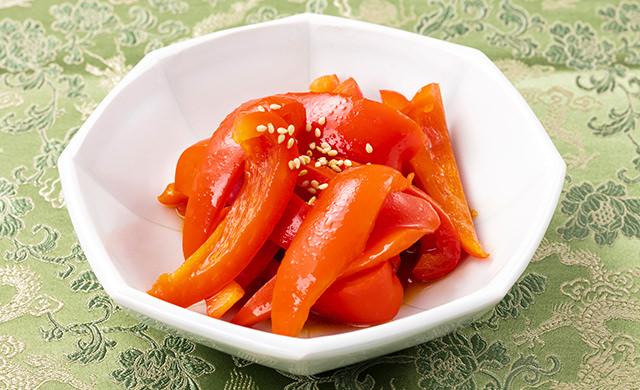 パプリカの中華風サラダの写真