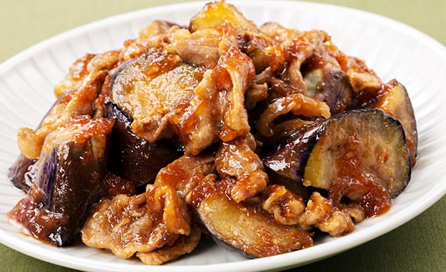 料理写真:なすと豚肉の韓国風焼肉炒め