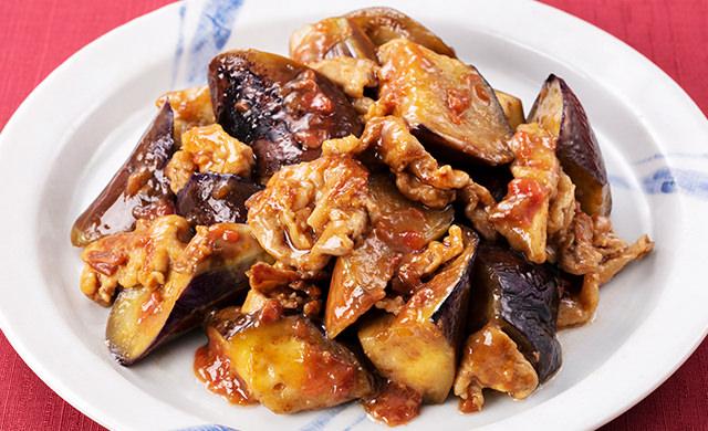 料理写真:なすと豚肉の梅ポン酢炒め