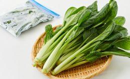 【小松菜の保存】生のまま冷凍が正解!3週間保存できるテクニック