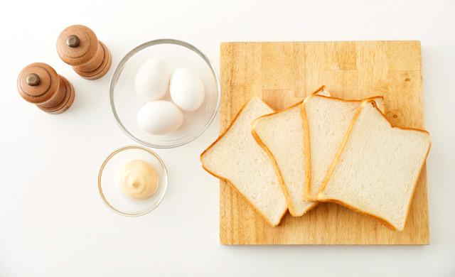 卵サンドの材料写真