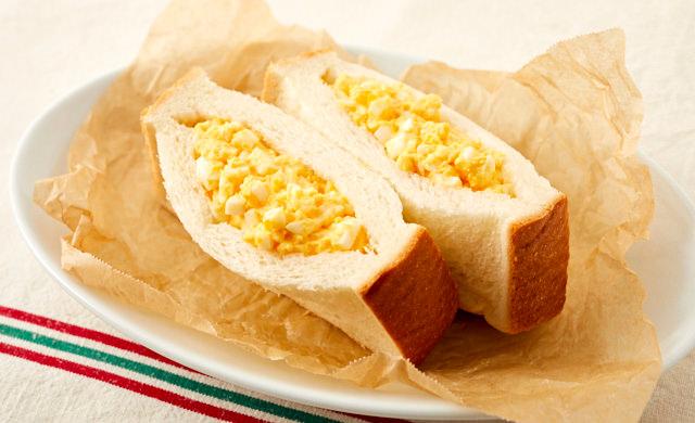 卵サラダのポケットサンドの完成写真