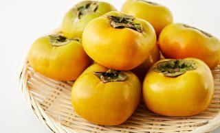 新鮮な柿の写真
