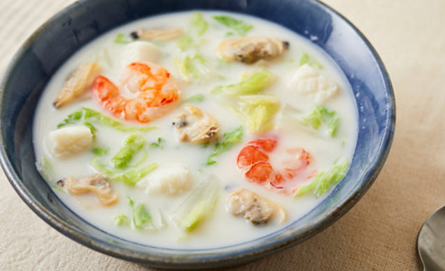 白菜のミルクスープの写真