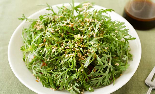 春菊の中華風サラダ写真