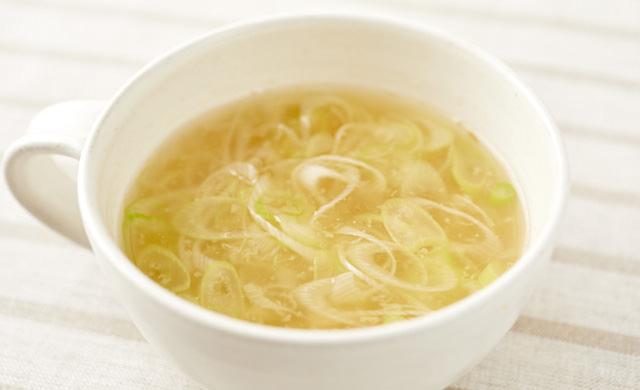 生姜とねぎのスープの写真