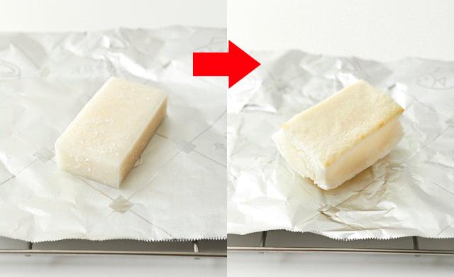 オーブントースターで焼く冷凍餅の写真