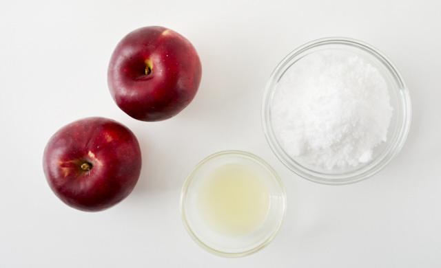 りんごジャムの材料の写真