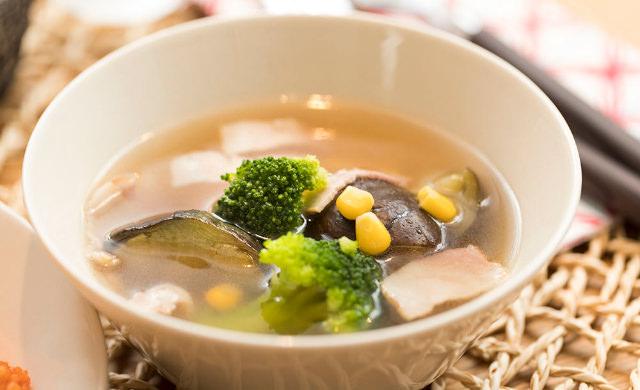 完成したスープの写真