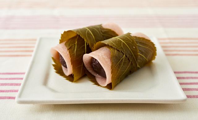 関東風桜餅の写真