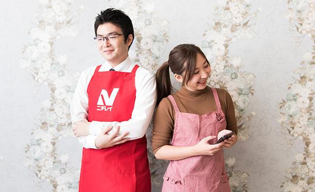 暇になってしまった原山さんとmakoさんの写真