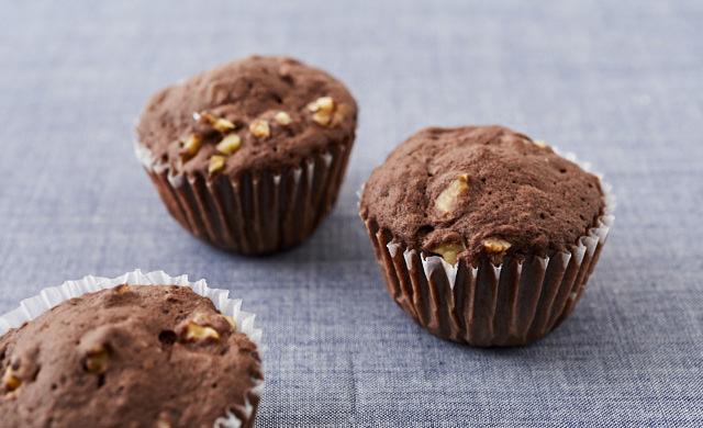チョコナッツマフィンの写真
