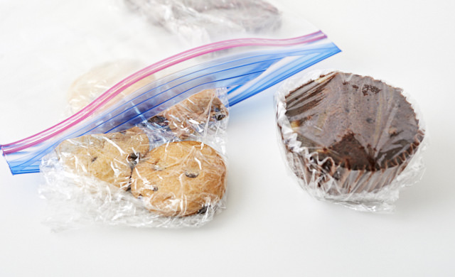 手作りお菓子の冷凍保存の写真