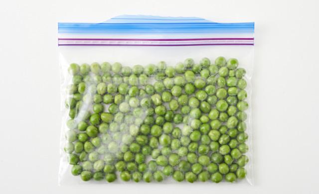 グリーンピースの冷凍保存の写真