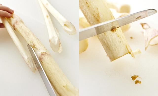 脇芽を切り落としている写真/うぶ毛を除いている写真