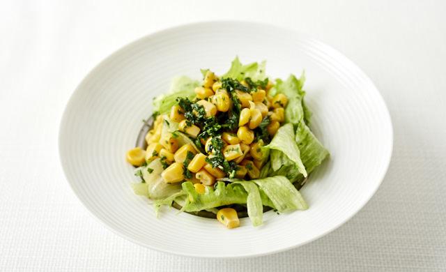 パセリコーンのサラダの写真