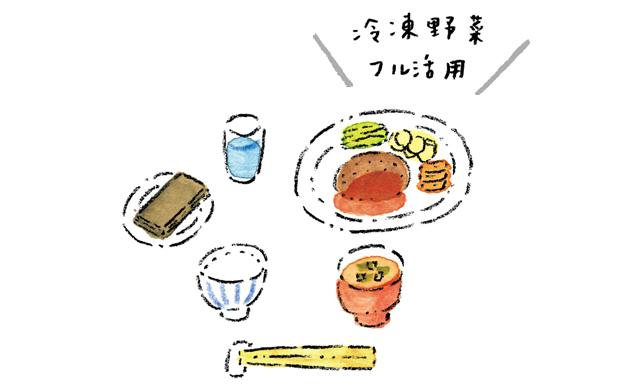 夕飯のイラスト