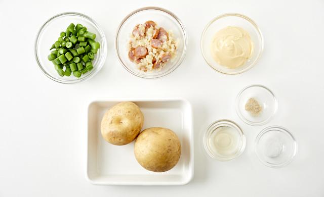 ポテトサラダの材料の写真