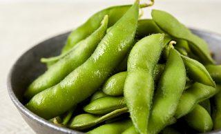 加熱した枝豆の写真