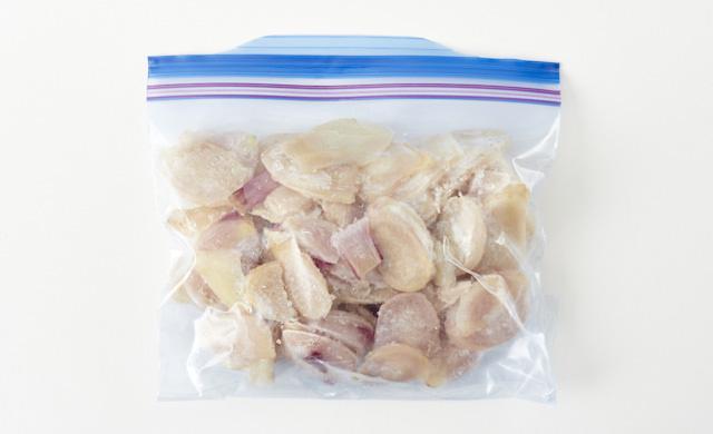 輪切り冷凍新生姜の写真