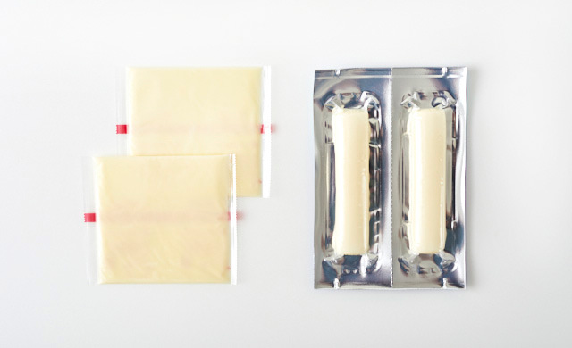 使用する2種のチーズの写真