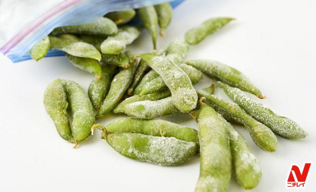 凍った枝豆の写真