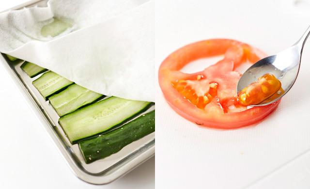 野菜の水分をとっている写真