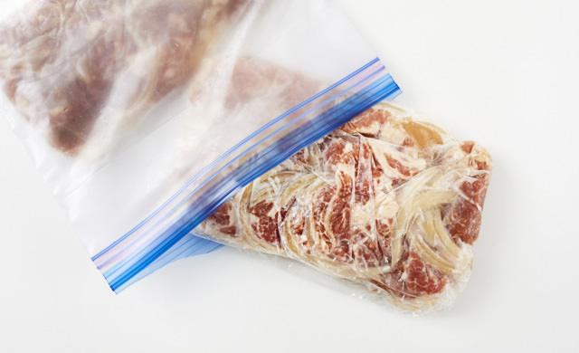 冷凍した生姜焼きの写真