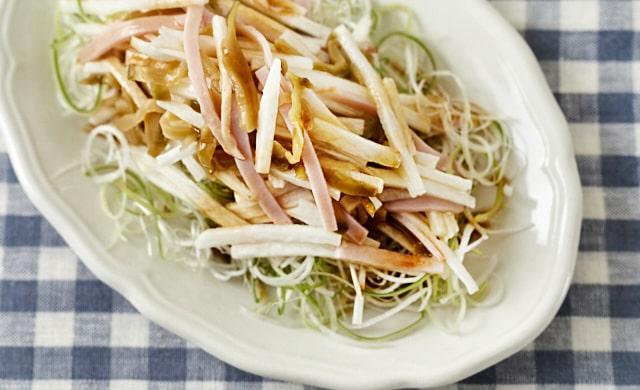 長芋とねぎの中華サラダの写真