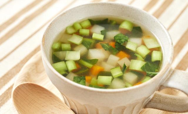 野菜コンソメスープの写真