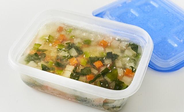 冷凍野菜コンソメスープの写真