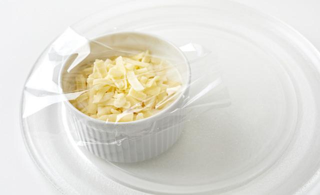 チーズ液を電子レンジ加熱する前の写真