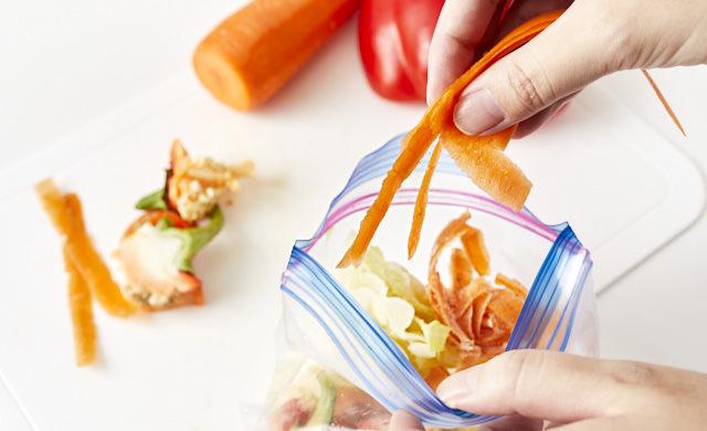 野菜くずをまとめた写真